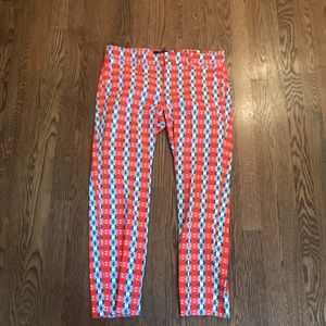 Fun Zara pants in great print-Worn Once! Sz M